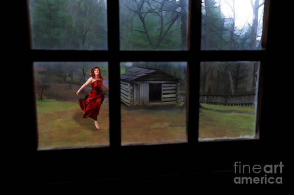 Photograph - Woman In Red Dress by Dan Friend