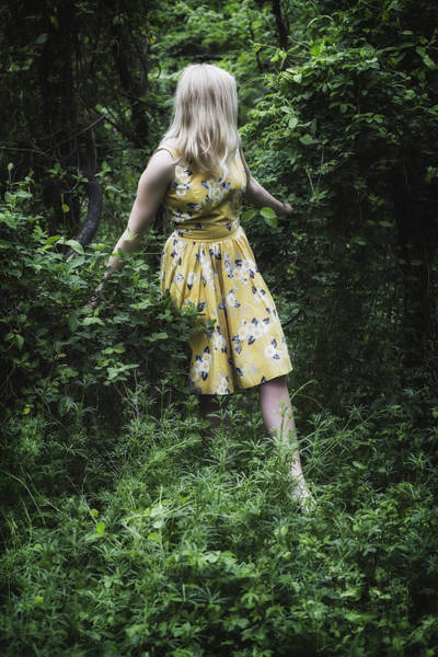 Single Woman Wall Art - Photograph - Woman In The Woods by Joana Kruse