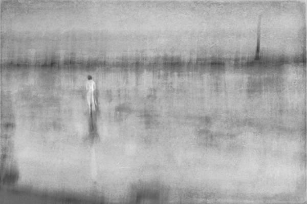 Digital Art - Woman In White At The Beach by Eduardo Tavares
