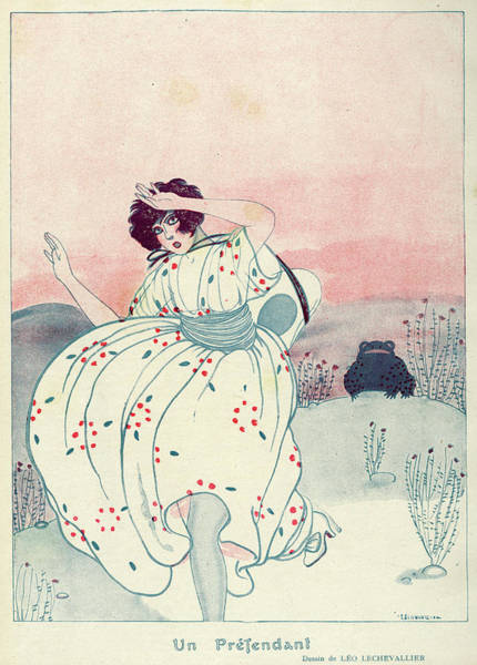 Folklore Drawing - Woman Is Courted By A Frog -  But by Mary Evans Picture Library