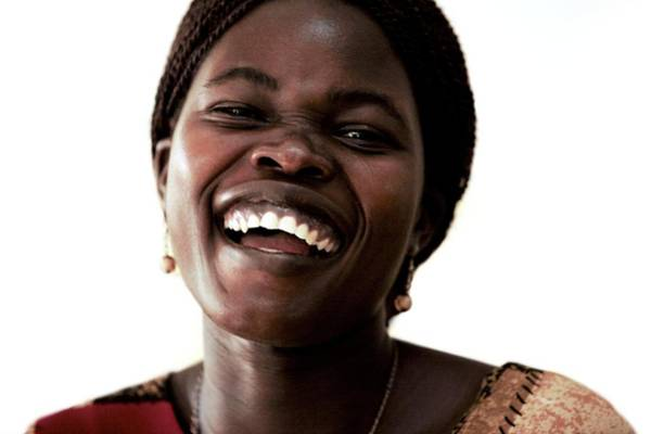 Uganda Wall Art - Photograph - Woman Laughing by Mauro Fermariello/science Photo Library