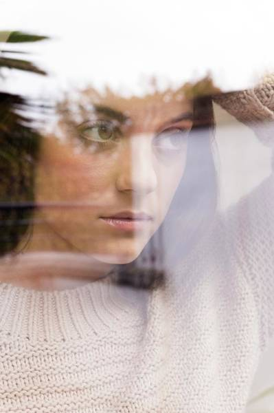 View Through Window Photograph - Woman Looking Away by Ian Hooton/science Photo Library