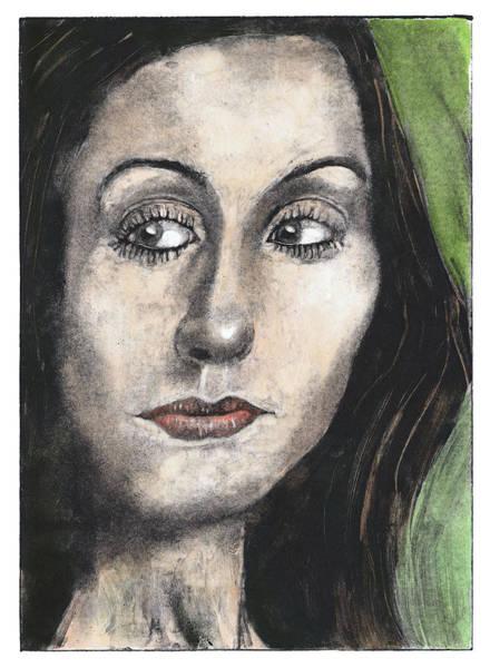 Woman Looking Suspicious Art Print by Ben Killen Rosenberg