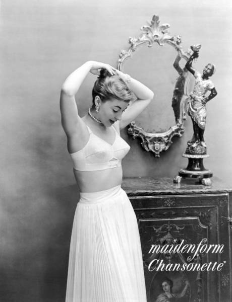 Wall Art - Photograph - Woman Models Bullet Bra by Underwood Archives