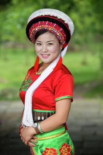 Ethnic Minority Photograph - Woman Of The Bai Ethnic Minority In China by Tony Camacho