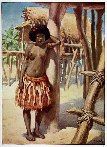 Wall Art - Drawing - Woman Of The Rigo District, In Former by Mary Evans Picture Library