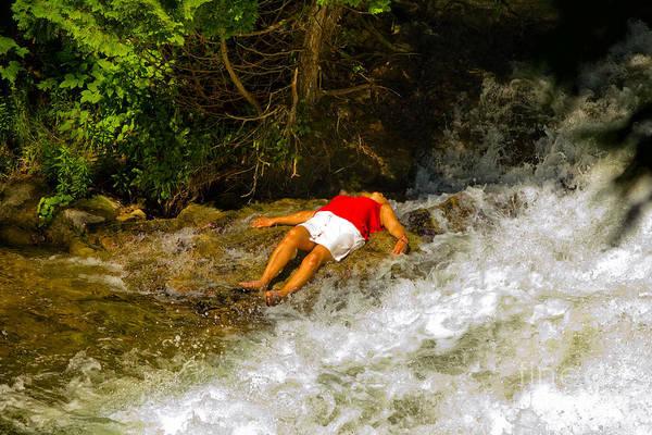 Photograph - Woman On The Rocks by Les Palenik