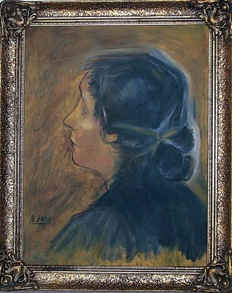 Lagos Painting - Woman Portrait by Evangelos Lagos