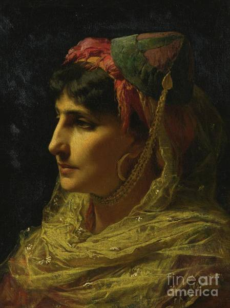 Trimming Painting - Woman Portrait by Celestial Images
