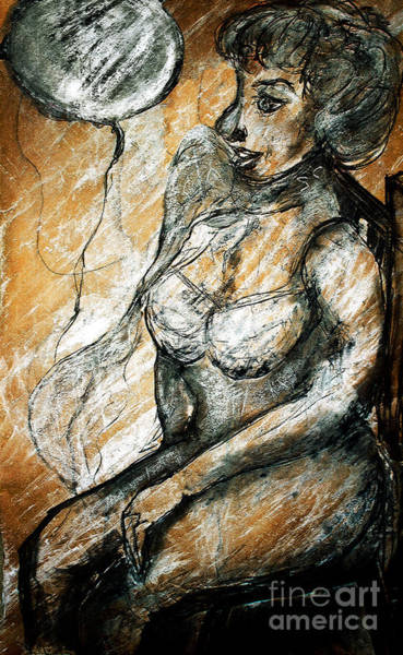 Painting - Woman Posing With Scarf by Nicole Philippi