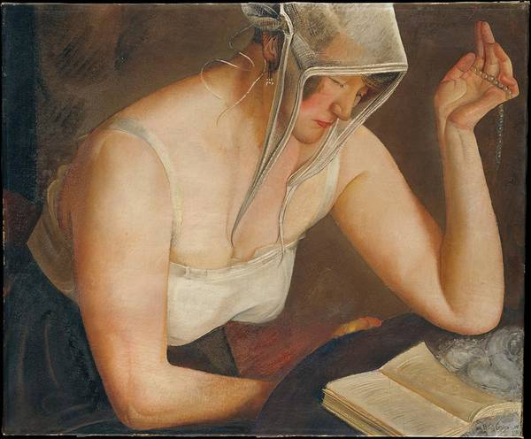 Central America Painting - Woman Reading by Boris Grigoriev