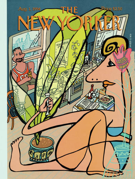 1 Painting - New Yorker August 1st, 1994 by Javier Mariscal