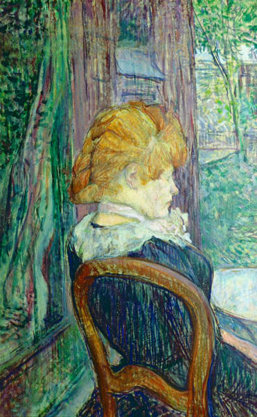 Wall Art - Painting - Woman Sitting In A Garden by Henri de Toulouse-lautrec