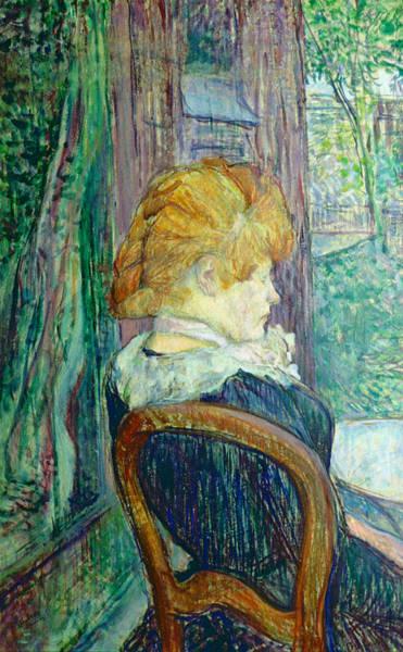 Henri Wall Art - Painting - Woman Sitting In A Garden by Henri de Toulouse-lautrec