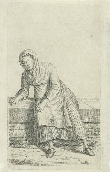 Woman Sitting On A Wall, Anthonie Willem Hendrik Nolthenius Art Print by Quint Lox