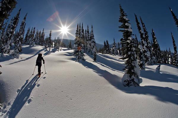 Jasmin Photograph - Woman Ski Touring, Valhalla Mountain by Whit Richardson