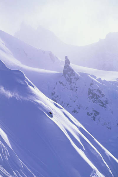 Alpen Glow Wall Art - Photograph - Woman Skiing In Haines, Alaska by Scott Markewitz
