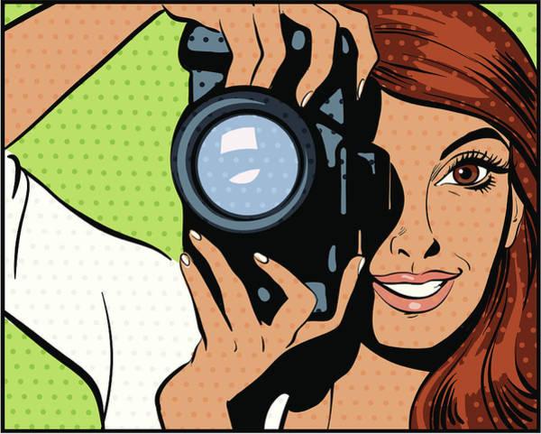 Digital Image Digital Art - Woman Taking Photograph by Mcmillan Digital Art