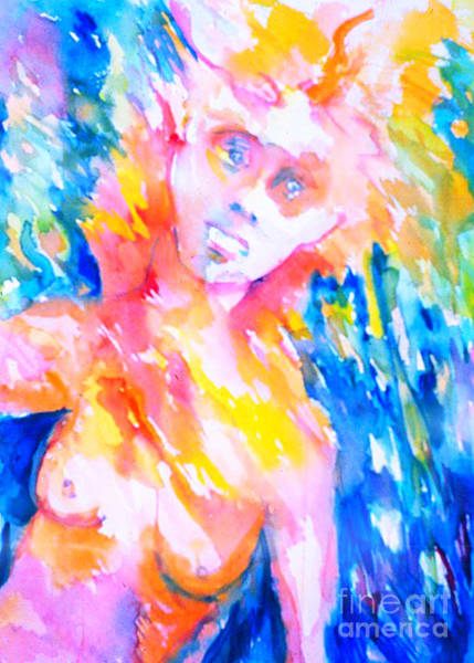 Painting - Woman Under Duress by Nancy Wait