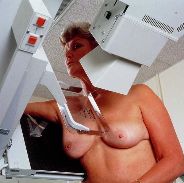 Woman Undergoing Mammography Examination Art Print
