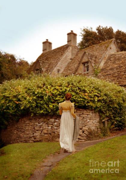 Wall Art - Photograph - Woman Walking To Cottage by Jill Battaglia