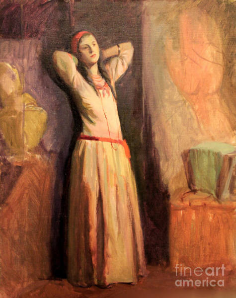 Painting - Woman Wearing Red Bandeau 1929 by Art By Tolpo Collection