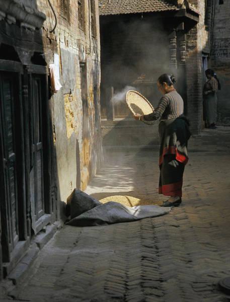 Woman Winnowing Art Print by Richard Berry