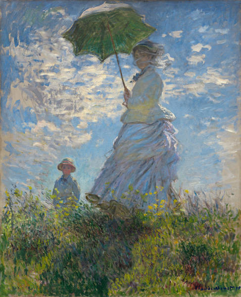 Claude Monet Photograph - Woman With A Parasol - Madame Monet And Her Son by Tilen Hrovatic