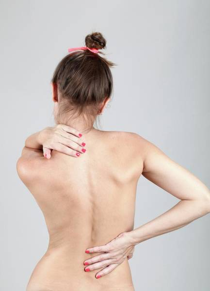 Chronic Pain Wall Art - Photograph - Woman With Back Pain by Photostock-israel