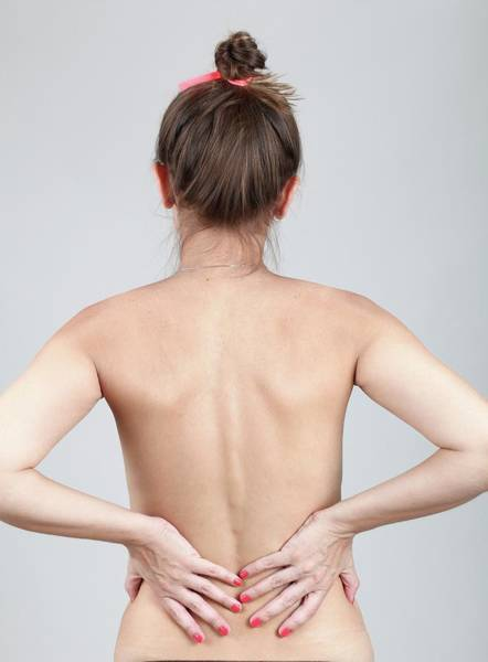 Chronic Pain Wall Art - Photograph - Woman With Back Pain by Photostock-israel/science Photo Library