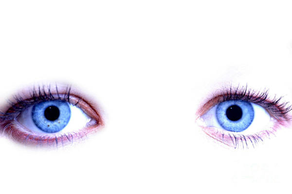 Photograph - Woman With Blue Eyes by Lada