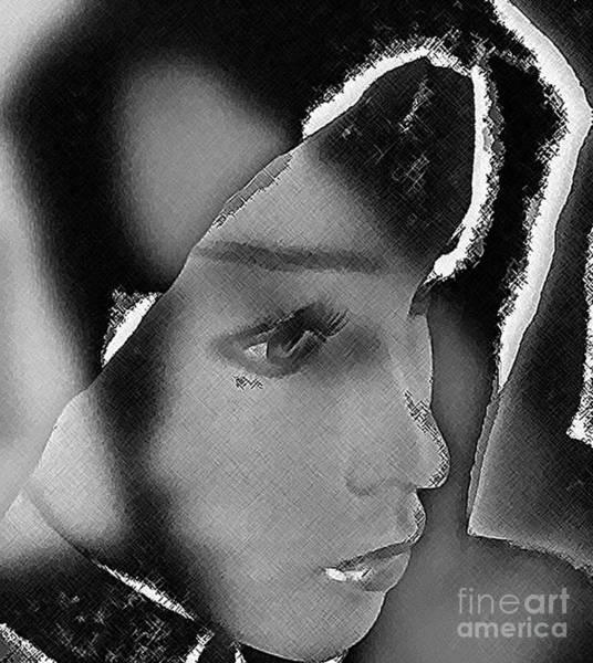 Woman With Broken Heart  Art Print