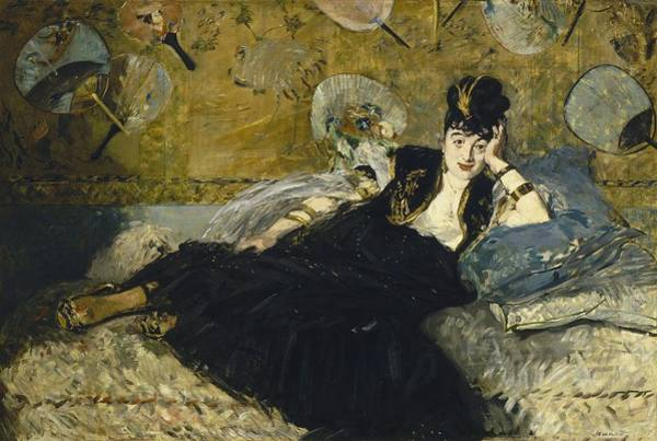 Wall Art - Painting - Woman With Fans by Edouard Manet