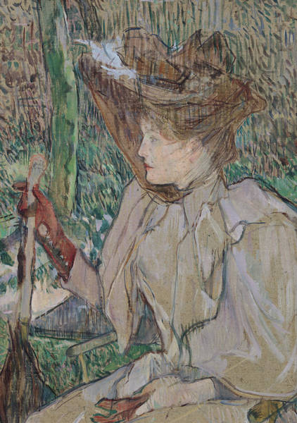 Henri Toulouse-lautrec Painting - Woman With Gloves by Henri de Toulouse-Lautrec