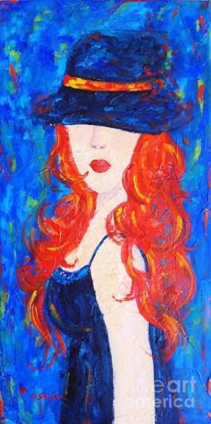 Painting - Woman With Hat by Cristina Stefan