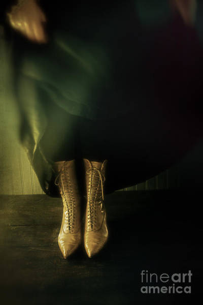 Photograph - Woman With Lace Boots Dancing by Sandra Cunningham