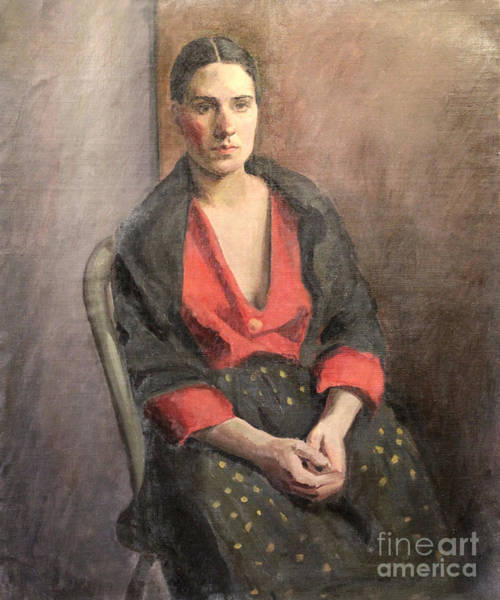 Painting - Woman With Read Blouse 1929 by Art By Tolpo Collection