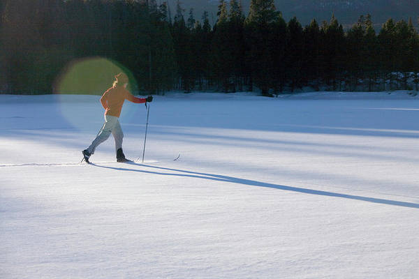 Wall Art - Photograph - Woman Xc Skiing Near Silverton, Co by Justin Bailie
