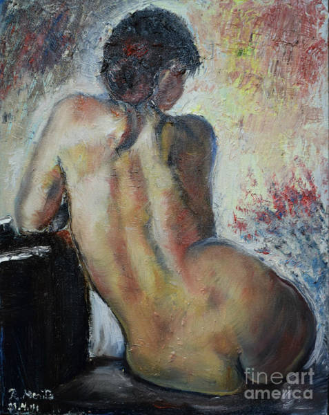 Painting - Woman's Back  by Raija Merila