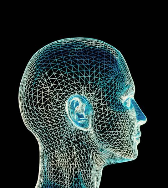 Computer Illustration Photograph - Woman's Head by Pasieka