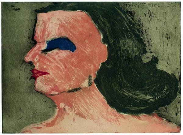 Woman's Profile Art Print by Tim Southall