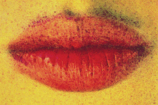 Lips Photograph - Woman's Red Lips by Th Foto-werbung/science Photo Library