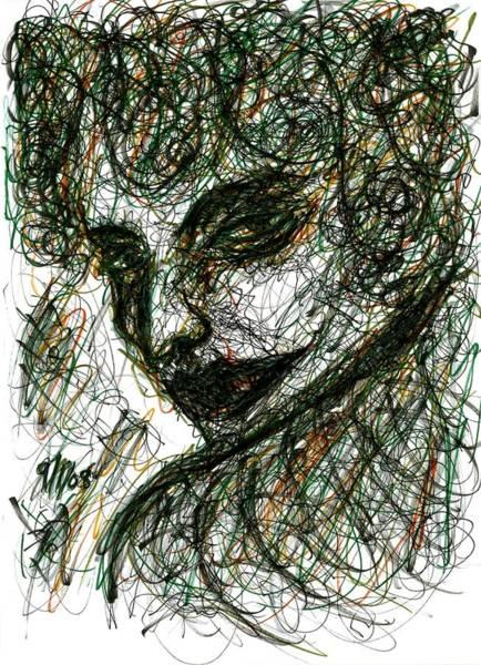Drawing - Woman's Smile by Rachel Scott