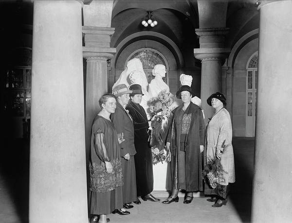 Wall Art - Photograph - Women Delegates To Int. Union Decorate by Stocktrek Images