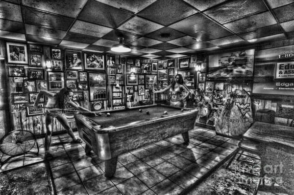 Photograph - Women In Bar Playing Pool by Dan Friend