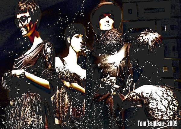 Ms Mixed Media - Women In Black by Tommi Trudeau