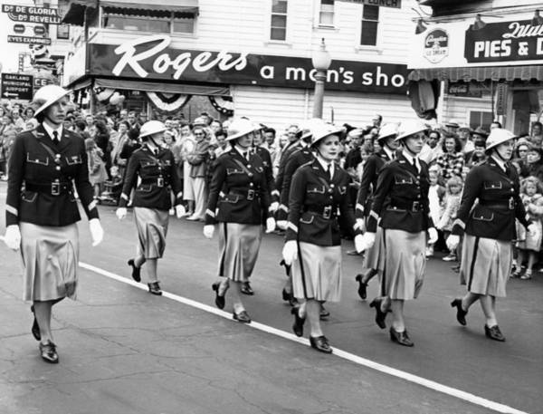 Appearance Photograph - Women Marching In Parade by Underwood Archives
