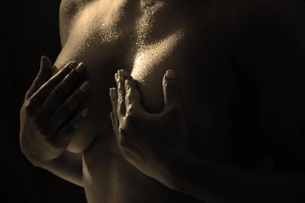 Shy Photograph - Women Nude by Mark Ashkenazi