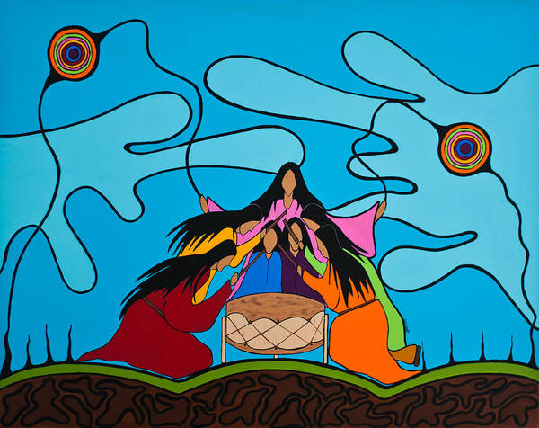 Drum Circle Wall Art - Painting - Women Of The Shore by Krystle Retieffe