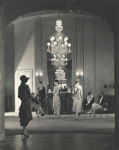 Sherman Photograph - Women Seated In The Display Room At Bergdorf by Edward Steichen